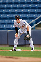Staten Island Yankees first baseman Eric Wagaman (22) during a game against the Lowell Spinners on August 22, 2018 at Richmond County Bank Ballpark in Staten Island, New York.  Staten Island defeated Lowell 10-4.  (Mike Janes/Four Seam Images)