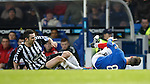 Ian Black taken out by Paul Harkins for a red card to the Elgin player