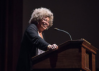 "Scholar, author and cultural theorist Angela Davis speaks on ""Black Liberation, History and the Contemporary Vision"" as the culmination of the Black Student Alliance's Black History Month observances, Feb. 29, 2016 in Thorne Hall.<br /> (Photo by Marc Campos, Occidental College Photographer)"