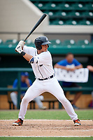 Detroit Tigers Sam McMillan (32) at bat during an Instructional League game against the Toronto Blue Jays on October 12, 2017 at Joker Marchant Stadium in Lakeland, Florida.  (Mike Janes/Four Seam Images)