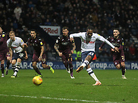 Preston North End's Daniel Johnson scores his sides first goal  <br /> <br /> Photographer Mick Walker/CameraSport<br /> <br /> The EFL Sky Bet Championship - Preston North End v Swansea City - Saturday 12th January 2019 - Deepdale Stadium - Preston<br /> <br /> World Copyright © 2019 CameraSport. All rights reserved. 43 Linden Ave. Countesthorpe. Leicester. England. LE8 5PG - Tel: +44 (0) 116 277 4147 - admin@camerasport.com - www.camerasport.com