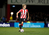 4th January 2020; Griffin Park, London, England; English FA Cup Football, Brentford FC versus Stoke City; Jaakko Oksanen of Brentford - Strictly Editorial Use Only. No use with unauthorized audio, video, data, fixture lists, club/league logos or 'live' services. Online in-match use limited to 120 images, no video emulation. No use in betting, games or single club/league/player publications