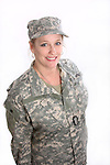 A USA military woman soldier