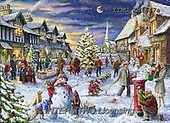 Marcello, CHRISTMAS LANDSCAPES, WEIHNACHTEN WINTERLANDSCHAFTEN, NAVIDAD PAISAJES DE INVIERNO, paintings+++++,ITMCXM1647A,#XL# ,puzzle ,marketplace