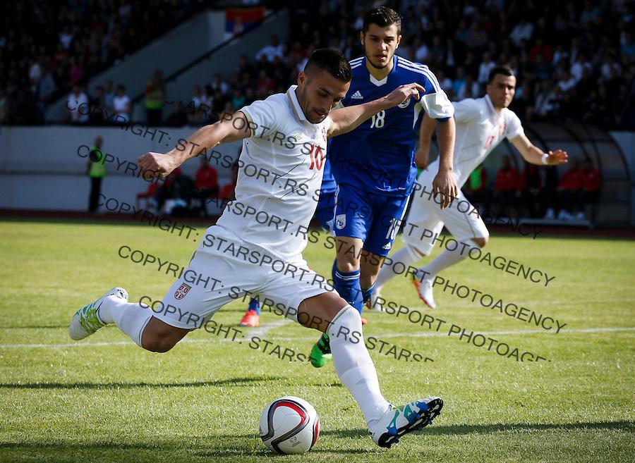 Fudbal Prijateljski Mec-International Friendli Match<br /> Srbija v Kipar<br /> Dusan Tadic (L)<br /> Uzice, 26.05.2016.<br /> foto: Srdjan Stevanovic/Starsportphoto &copy;