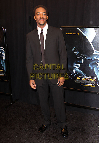 """ANTHONY MACKIE .""""Notorious"""" New York Premiere held at AMC Lincoln Square, New York, NY, USA, 07 January 2009..full length black suit tie .CAP/ADM/PZ.©Paul Zimmerman/Admedia/Capital Pictures"""