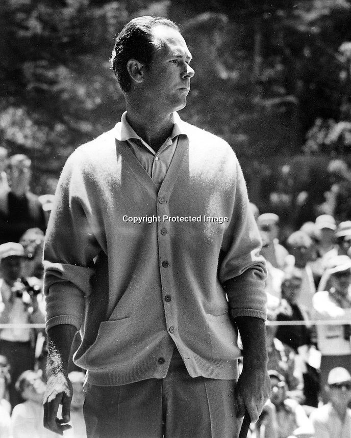 """Champane"" Tony Lema at the U.S.Open golf Championship at the Olympic Club in San Francisco, Ca. (1966 photo by Ron Riesterer)"
