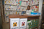 A wholesaler in Conakry, Guinea advertises Prudence Plus condoms.  He also displays a box of Orasel oral rehydration salts used to rehydrate young children suffering from diarrheal disease.  Prudence Plus and Orasel are distributed by the international social marketing organization, Popualtion Services International.