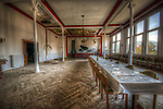 A abandoned hotel dining room in the south of Germany