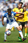 CD Leganes' Martin Mantovani (l) and Malaga CF's Jony Rodriguez during La Liga match. February 25,2017. (ALTERPHOTOS/Acero)
