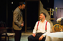 London, UK. 18.07.2014. Mountview Academy of Theatre Arts presents SATURDAY, SUNDAY, MONDAY by Eduardo de Filippo, the English adaptation by Keith Waterhouse & Willis Hall, directed by Michael Howcroft, at the Unicorn Theatre, as part of the Postgraduate Season 2014. Picture shows:  Rik Grayson (Rocco) and Adam Radcliffe (Peppino). Photograph © Jane Hobson.