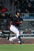 El Paso Chihuahuas second baseman Esteban Quiroz (4) during a Pacific Coast League game against the Albuquerque Isotopes at Southwest University Park on May 10, 2019 in El Paso, Texas. Albuquerque defeated El Paso 2-1. (Zachary Lucy/Four Seam Images)