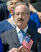 """United States Representative Eliot Engel, (Democrat of New York), the Ranking Member of the US House Foreign Relations Committee, joins other Democratic members of the US House of Representatives and US Senate as they assemble on the East Steps of the US Capitol to call on Republican leadership in both legislative bodies to schedule votes on funding to combat the Zika Virus, to prohibit people on the federal """"no fly"""" list from purchasing guns, and to conduct confirmation hearings and schedule a vote on the confirmation of Judge Merrick Garland as Associate Justice of the US Supreme Court in Washington, DC on Thursday, September 8, 2016.<br /> Credit: Ron Sachs / CNP"""
