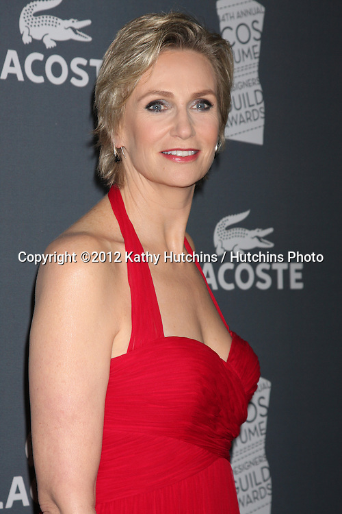 LOS ANGELES - FEB 21:  Jane Lynch arrives at the 14th Annual Costume Designers Guild Awards at the Beverly Hilton Hotel on February 21, 2012 in Beverly Hills, CA.