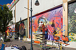 Artists work during the Mural Marathon on Sunday July1, 2018 in downtown Reno.