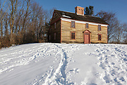 Captain William Smith House along the Battle Road Trail at Minute Man National Historical Park in Lincoln, Massachusetts USA during the winter months.
