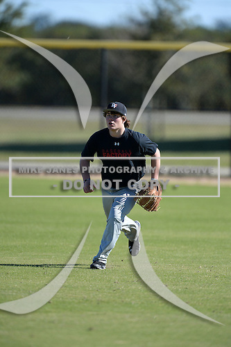 Tanner O'Tremba (33) of Parker, Colorado participates in the Baseball Factory All-America Pre-Season Rookie Tournament, powered by Under Armour, at Lake Myrtle Sports Complex on January 18, 2014 in Auburndale, Florida.  (Copyright Mike Janes Photography)