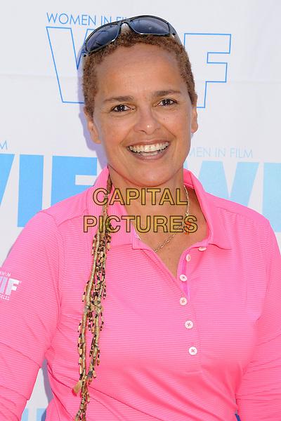 Shari Belafonte<br /> 16th Annual Women In Film Malibu Golf Classic held at the Malibu Golf Club, Malibu, California, USA, 13th July 2013.<br /> portrait headshot  pink<br /> CAP/ADM/BP<br /> &copy;Byron Purvis/AdMedia/Capital Pictures