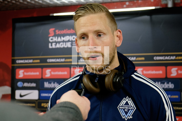 Harrison, NJ - Wednesday Feb. 22, 2017: David Ousted after a Scotiabank CONCACAF Champions League quarterfinal match between the New York Red Bulls and the Vancouver Whitecaps FC at Red Bull Arena.