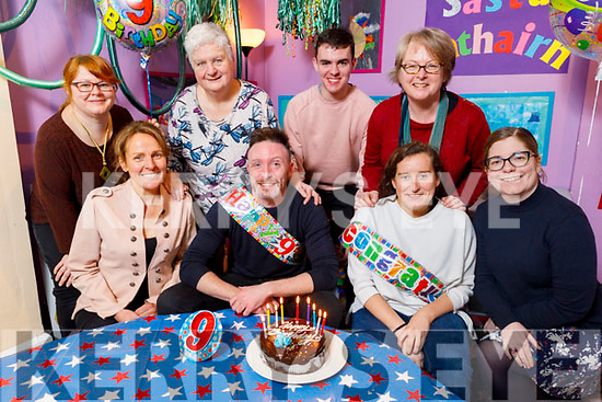 Tom Dillion gets a surprise 9th birthday party from his colleagues at the Kerry County Museum on Friday and they also celebrate with Gemma O'Connor who was awarded the Austin Stacks LGFA Player of the Year last weekend. <br /> Seated l to r: Tom Dillion, Sandra Leahy and Gemma O'Connor.<br /> Back l to r: Claudia Kohler, Triona Houlihan, Eoin McElligott, Helen O'Carroll and Sarah O'Farrell.