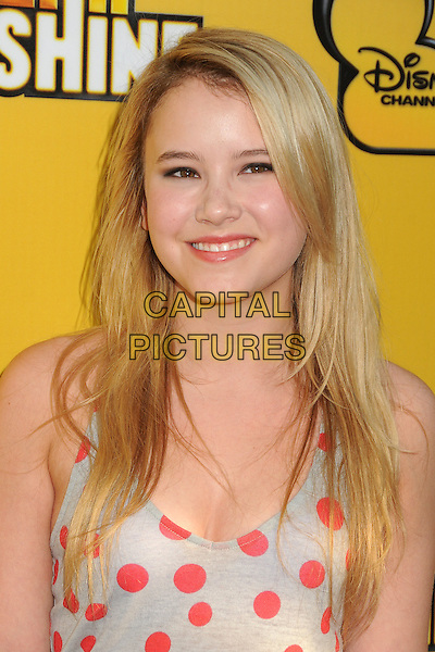 """Taylor Spreitler.""""Let It Shine"""" Los Angeles Premiere held at the Directors Guild of America, West Hollywood, California, USA..June 5th, 2012.headshot portrait white red polka dot top .CAP/ADM/BP.©Byron Purvis/AdMedia/Capital Pictures."""
