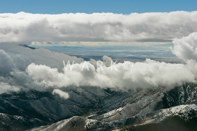 Cloud window at Mosca Pass, looking into San Luis Valley, Colorado. Jan 2013