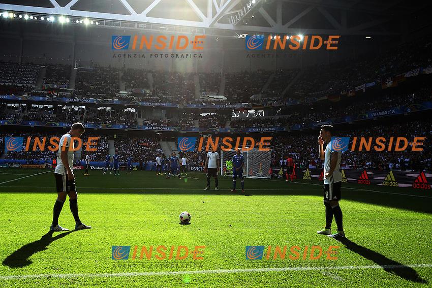 Toni Kroos and Mesut Ozil (Ger) <br /> Lille 26-06-2016 Stade Pierre Mauroy Football Euro2016 Germany - Slovakia  / Germania - Slovacchia Round of 16. Foto Matteo Ciambelli / Insidefoto