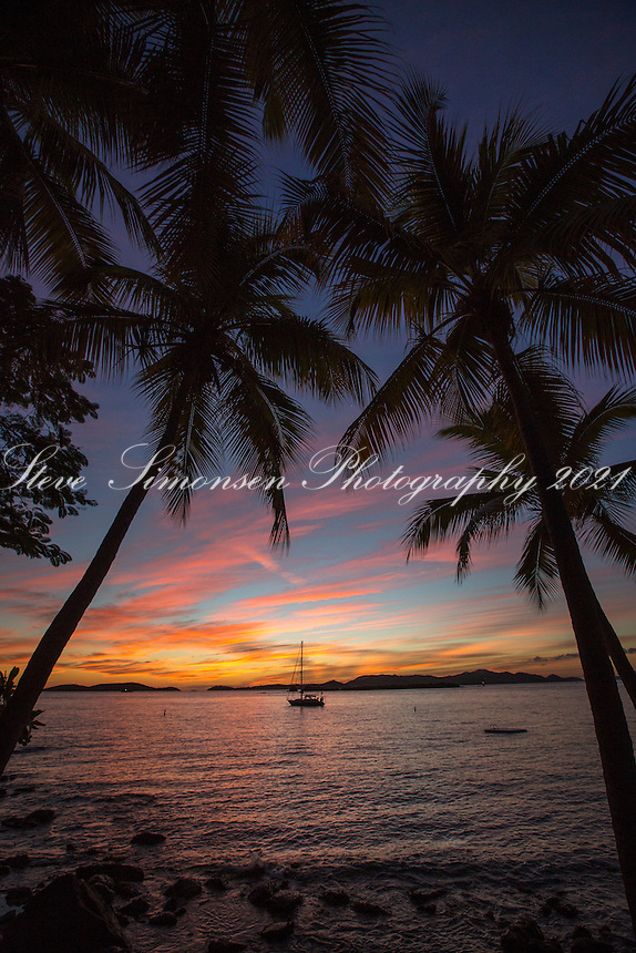 Sunset from Gallows Point Resort<br /> St. John<br /> US Virgin Islands
