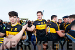 Dr Crokes players Tony Brosnan and Eoin Brosnan celebrate after winning the Kerry County Senior Club Football Championship Final match between Dr Crokes and Dingle at Austin Stack Park in Tralee, Kerry on Sunday.