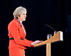 Conservative Spring Forum at Welsh Conference, Cardiff, Wales, Great Britain <br /> 17th March 2017 <br /> <br /> <br /> <br /> <br /> <br /> The Rt Hon Theresa May MP <br /> Prime Minister and Leader of the Conservatives <br /> <br />  <br /> <br /> Photograph by Elliott Franks <br /> Image licensed to Elliott Franks Photography Services