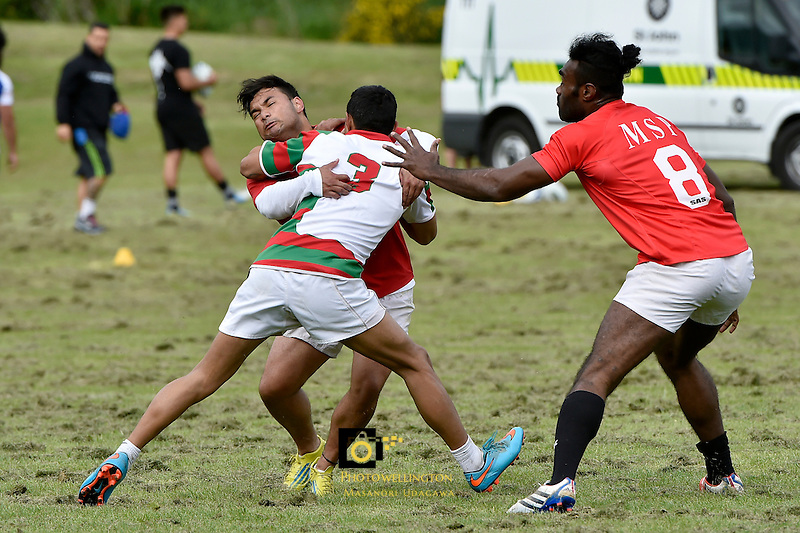 Action from the WRFU Sevens - Invitational Open 7s Tournament at Porirua Park,  Porirua, New Zealand on Saturday 31 October 2015.<br /> Photo by Masanori Udagawa.<br /> www.photowellington.photoshelter.com.