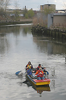 (050424-SWR036) Brooklyn, NY - Volunteers from The Urban Divers Estuary Conservancy clean iu the Gowanus Canal as an Earth Day initiative..