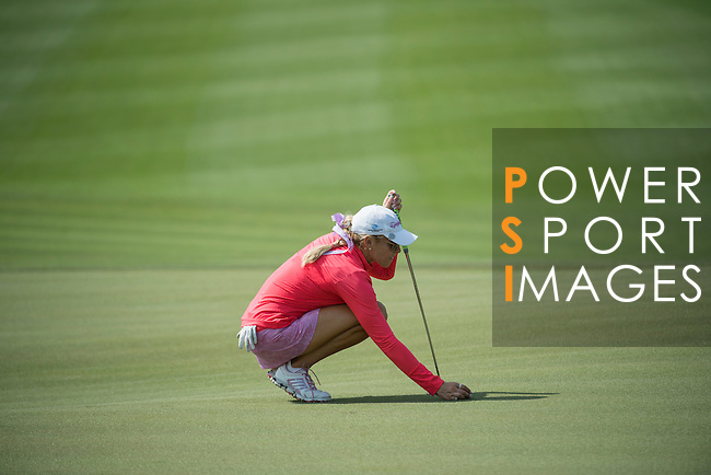 Natalie Gulbis plays during the World Celebrity Pro-Am 2016 Mission Hills China Golf Tournament on 22 October 2016, in Haikou, China. Photo by Weixiang Lim / Power Sport Images