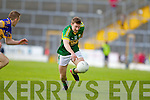 James O'Donoghue, Kerry in action against Brian Mulvhill in the first round of the Munster Football Championship at Fitzgerald Stadium on Sunday.