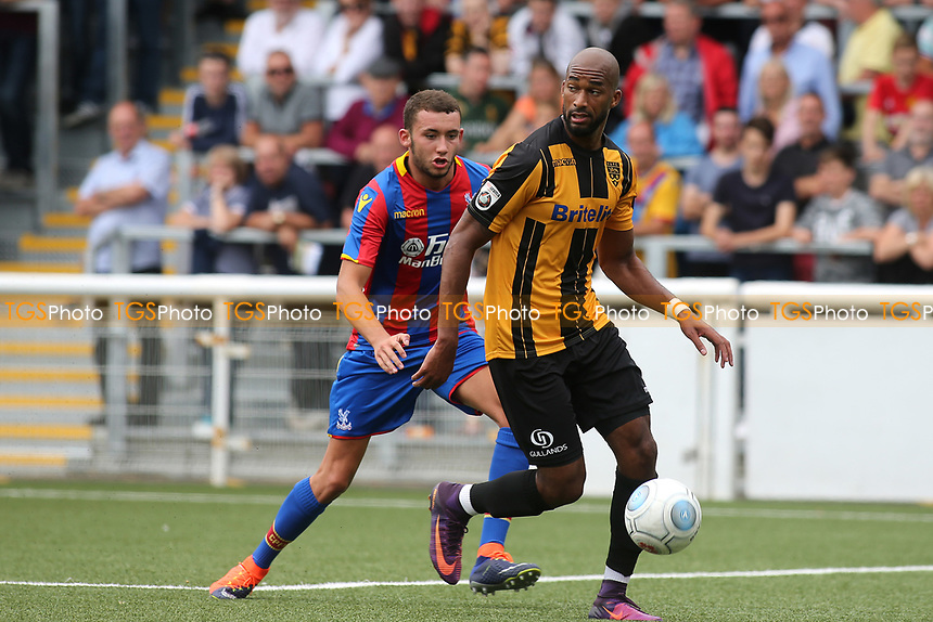 Maidstone's Delano Sam-Yorke in action during Maidstone United  vs Crystal Palace, Friendly Match Football at the Gallagher Stadium on 15th July 2017