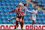Jade Pennock of Sheffield United and Marisa Ewers of Aston Villa battle for the ball during the The FA Women's Championship match at the Proact Stadium, Chesterfield. Picture date: 12th January 2020. Picture credit should read: James Wilson/Sportimage