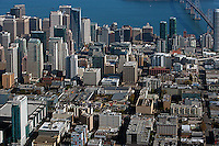 aerial photograph South of Market, SOMA, San Francisco, California