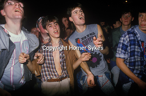 Male teenage fans at a Big Country concert  Scotland 1980s