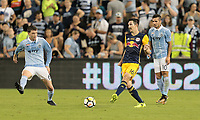 Kansas City, KS - Wednesday September 20, 2017: Sacha Kljestan during the 2017 U.S. Open Cup Final Championship game between Sporting Kansas City and the New York Red Bulls at Children's Mercy Park.