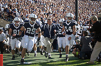01 October 2005:  Joe Paterno leads the team onto the field.  Penn State Nittany Lions  defeated the Minnesota Golden Gophers  44-14 September 1, 2005 at Beaver Stadium in State College, PA..