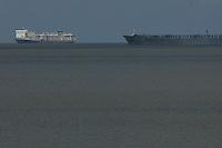 Navios de gado , alumina, alumínio e bauxita chegam no porto de Vila do Conde.<br /> <br />  Foto Paulo SantosPorto de Vila do  Conde, Barcarena, Pará, Brasil.08/10/2013