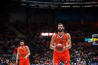 VALENCIA, SPAIN - OCTOBER 20: Bojan Dubljevic during EUROCUP match between Valencia Basket Club and CAI Zaragozaat Fonteta Stadium on   October 22, 2015 in Valencia, Spain