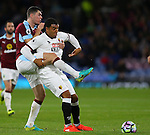 Michael Keane of Burnley tussles with Troy Deeney of Watford during the Premier League match at Turf Moor Stadium, Burnley. Picture date: September 26th, 2016. Pic Simon Bellis/Sportimage