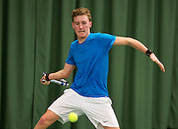 March 13, 2015, Netherlands, Rotterdam, TC Victoria, NOJK, Ilya Kneppelhout (NED)  Thorsten Sollie (NED)<br /> Photo: Tennisimages/Henk Koster