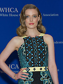 Gillian Jacobs arrives for the 2015 White House Correspondents Association Annual Dinner at the Washington Hilton Hotel on Saturday, April 25, 2015.<br /> Credit: Ron Sachs / CNP