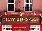 "London Gay Hussar 01 - The ""Gay Hussar"" Hungarian Restaurant, 2 Greek Street, Soho, London, England, UK"