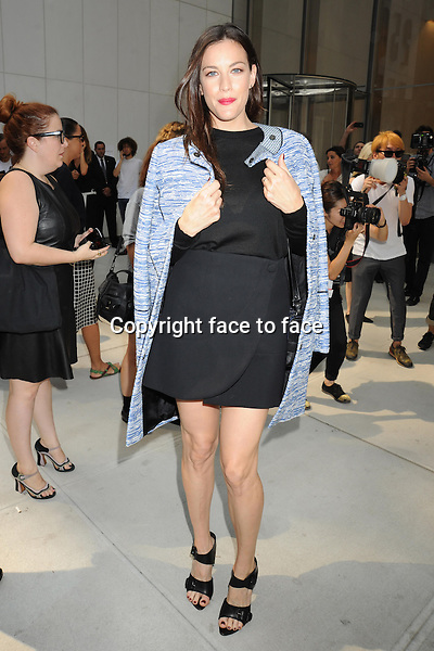 NEW YORK, NY - SEPTEMBER 11: Liv Tyler seen outside of the Proenza Schouler Spring 2014 Fashion Show in Midtown Manhattan during New York Fashion Week in New York, NY. September 11, 2013. <br /> Credit: MediaPunch/face to face<br /> - Germany, Austria, Switzerland, Eastern Europe, Australia, UK, USA, Taiwan, Singapore, China, Malaysia, Thailand, Sweden, Estonia, Latvia and Lithuania rights only -