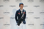Bertram Allen of Ireland riding Quiet Easy 4 celebrates after winning the Longines Speed Challenge as part of the Longines Masters of Hong Kong on 20 February 2016 at the Asia World Expo in Hong Kong, China. Photo by Victor Fraile / Power Sport Images