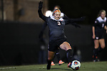 DURHAM, NC - NOVEMBER 17: Oklahoma State's Kirsten Siragusa (3). The Duke University Blue Devils hosted the Oklahoma State University Cowboys on November 17, 2017 at Koskinen Stadium in Durham, NC in an NCAA Division I Women's Soccer Tournament Second Round game. Duke won the game 7-0.