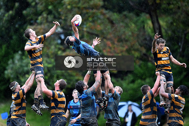 NELSON, NEW ZEALAND - May 14: Nelson College Boys v Marlborough Boys College at Nelson College on May 14, 2015 in Nelson, New Zealand. (Photo by: Chris Symes Shuttersport Limited)